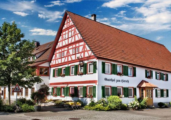 Ein Blick auf unseren Gasthof Hirsch mitten in Böhringen
